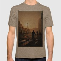 Foggy City Mens Fitted Tee Tri-Coffee SMALL