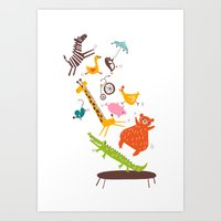 trampolinists Art Print