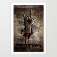 The Rocking Dead Art Print