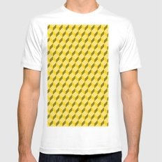 staircase pattern  Mens Fitted Tee SMALL White