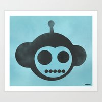 Chimpobot Art Print