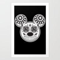 This Ain't Disney Sugar Skull Art Print