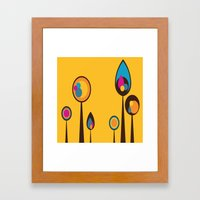 Yellow With Multi-Colore… Framed Art Print