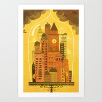 Old Modern Lifestyle Art Print