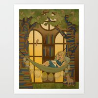 Reading Forest Art Print
