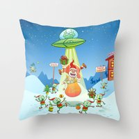 Santa Claus Abducted By … Throw Pillow
