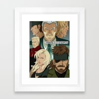 MGS 25TH ANNIVERSARY Framed Art Print