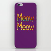 Meow Meow (in color) iPhone & iPod Skin