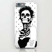 iPhone & iPod Case featuring Lady Skull Dots by Aurelie Scour