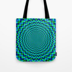 Pulse in Blue and Green Tote Bag
