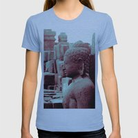 Borobudur Womens Fitted Tee Athletic Blue SMALL