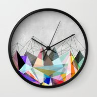 Wall Clock featuring Colorflash 3 by Mareike Böhmer Grap…