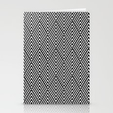 Triangles in Diamonds Stationery Cards