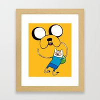 Adventure Time - FAN ART Framed Art Print