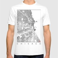 T-shirt featuring Chicago Schwarzplan by City Map Art