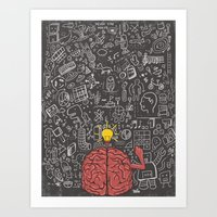 My Brain Won't Stop Art Print