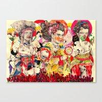 3 Geisha's Canvas Print