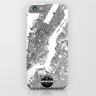 iPhone & iPod Case featuring New York Map by Maps Factory