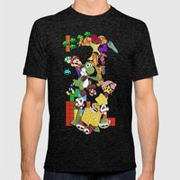 NERD issimo Mens Fitted Tee Tri-Black SMALL