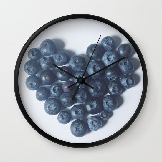 Blueberry Love Wall Clock