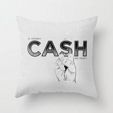 In Johnny Cash We Trust. Throw Pillow