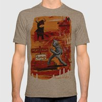 the trapping of the peace monster Mens Fitted Tee Tri-Coffee SMALL