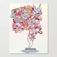 Thick Lucidity Canvas Print
