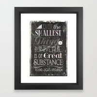 Substance - Mono Type in Color Framed Art Print