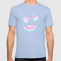 Summertime Mens Fitted Tee Tri-Blue SMALL