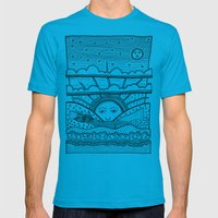Paysage Mens Fitted Tee Teal SMALL