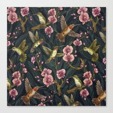 Hummingbird Pattern Canvas Print