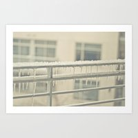 Warmth of Icicles Art Print