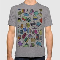 colored bags obsession Mens Fitted Tee Athletic Grey SMALL