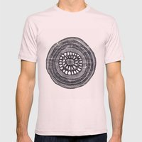 Circle Mens Fitted Tee Light Pink SMALL