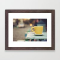 The Yellow Cup Framed Art Print