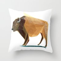 Jasper Buffalo Throw Pillow