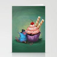 Mr. Bluemouse And A Cupc… Stationery Cards