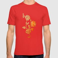 PAPERCUT FLOWER 3 Mens Fitted Tee Red SMALL