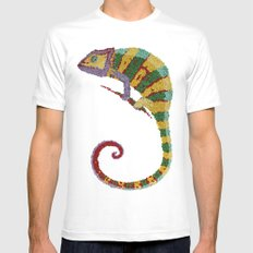 Papeleon White SMALL Mens Fitted Tee