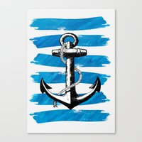 Anchor away Canvas Print