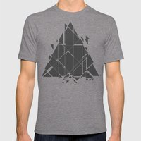 PLACE Triangle V2 Mens Fitted Tee Tri-Grey SMALL