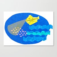 The Life Aquatic Fan Art Canvas Print