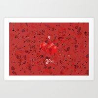 I Love You! Art Print