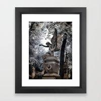 Cemetery Angel - Infrare… Framed Art Print