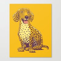 Take A Woof On The Wild … Canvas Print