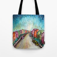 The Street Near My Stree… Tote Bag