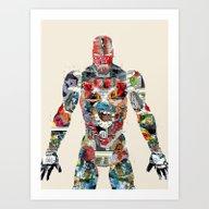 Modern Ironman  Art Print