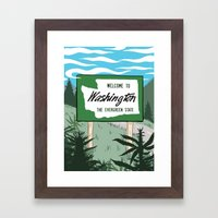 Welcome to Washington Framed Art Print