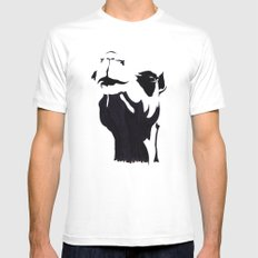 camel Mens Fitted Tee White SMALL