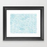 Cool Blue Framed Art Print
